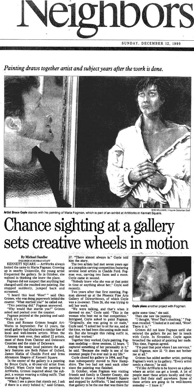 Bruce M Coyle in the Philadelphia Inquirer December 12, 1999