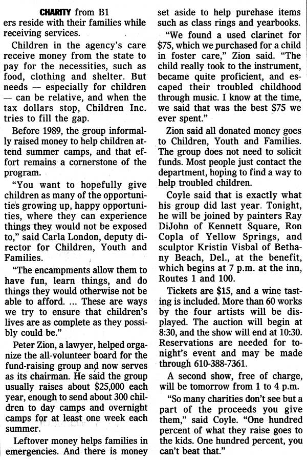 Bruce M. Coyle in the Philadelphia Inquirer, March 24, 2000 (c)
