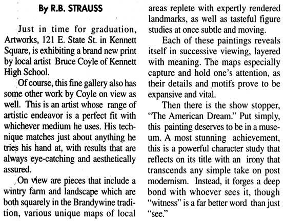 Bruce M. Coyle in the Kennett Paper, June 14-20, 2002 (c)