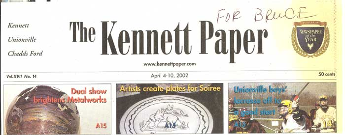 Bruce M. Coyle in the Kennett Paper, April 4-10, 2002 (a)